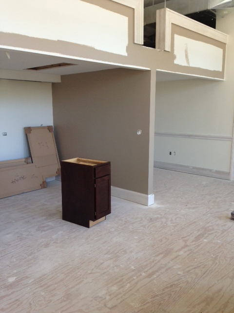Studio Apartment Awaiting Installation Of Kitchen Cabinetry & Counters