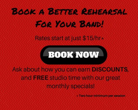 Book A Better RehearsalFor Your Band!