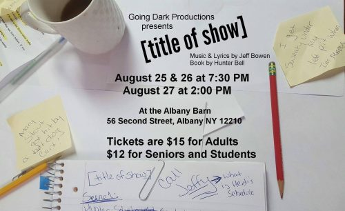 Going Dark Productions Makes Debut @ The Barn With [title Of Show]