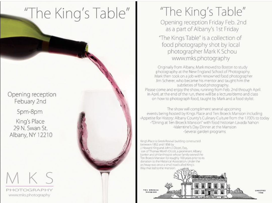 "Resident Artist Mark Schou Debuts ""The King's Table"" Exhibition At Arbor Hill's King's Place Next Friday, 2/2"