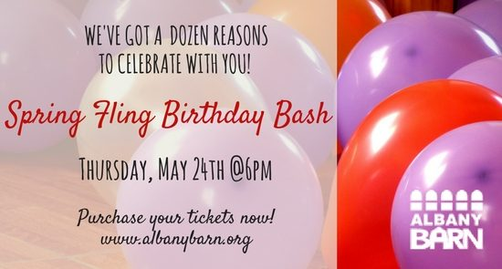 Spring Fling Birthday Bash! @ Albany Barn | Albany | New York | United States