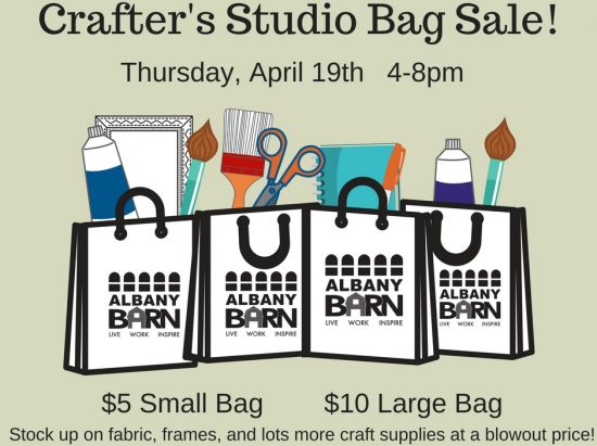 Crafters' Studio Bag Sale @ The Barn | Albany | New York | United States