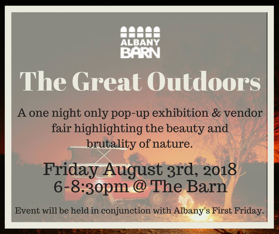 This Friday-The Great Outdoors Pop-Up Exhibition!