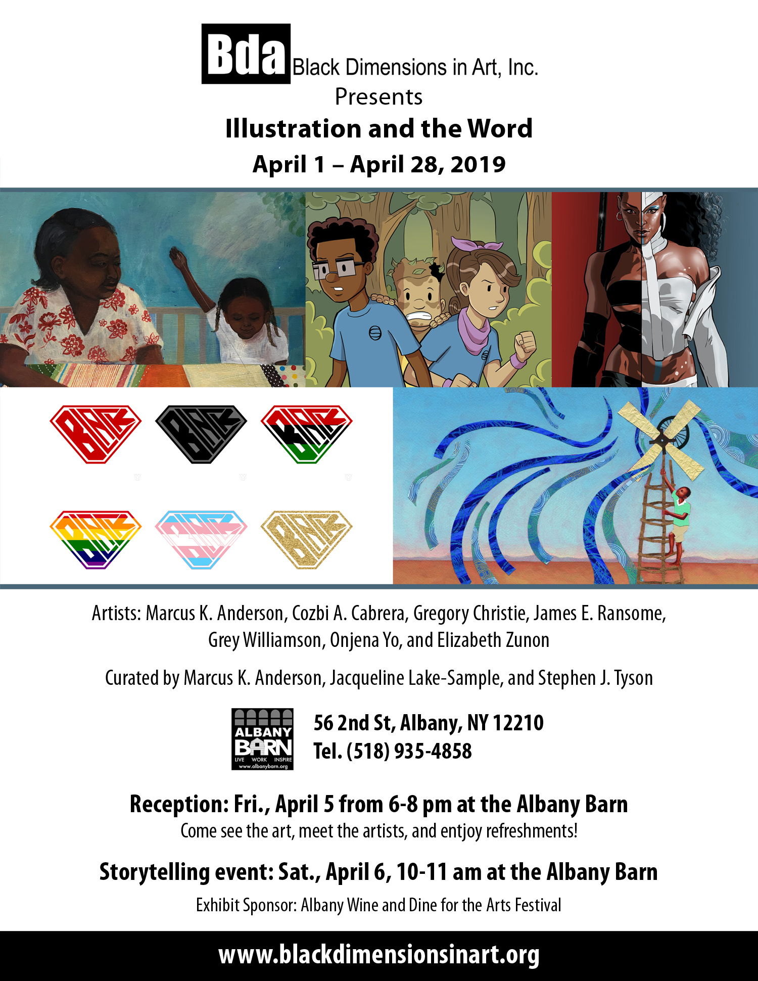 "Black Dimensions In Art Presents ""Illustration & The Word"" This Friday!"