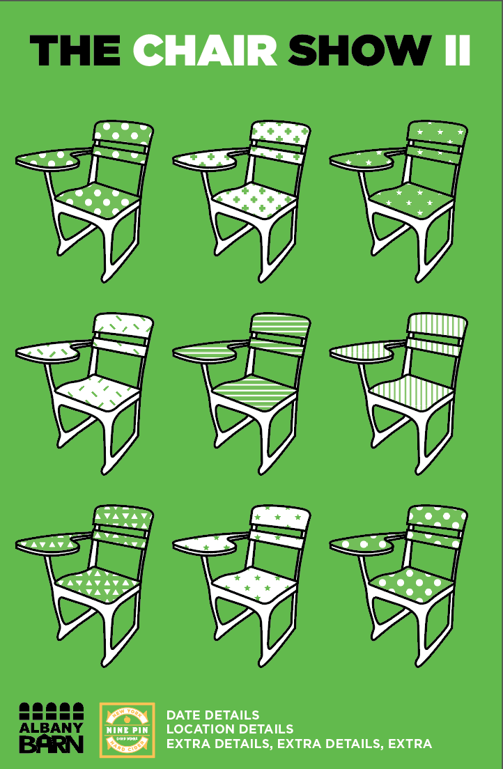 April 1st Friday: Chair Show II @ Nine Pin Cider