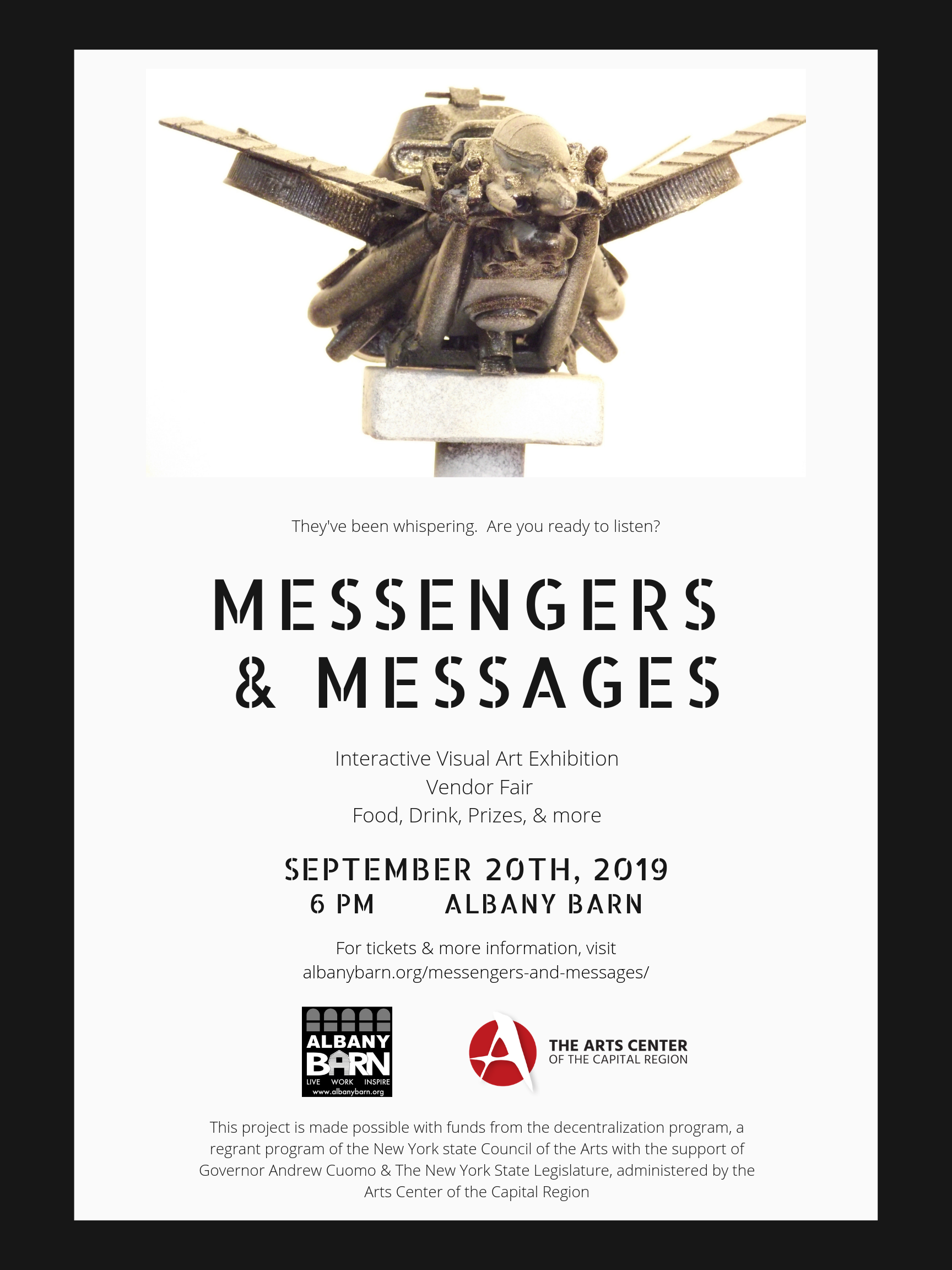Announcing MESSENGERS & MESSAGES Interactive Visual Art Exhibition