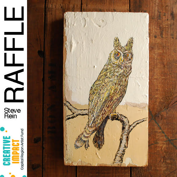 """Horned Owl"" By Steve Rein RAFFLE TICKETS"