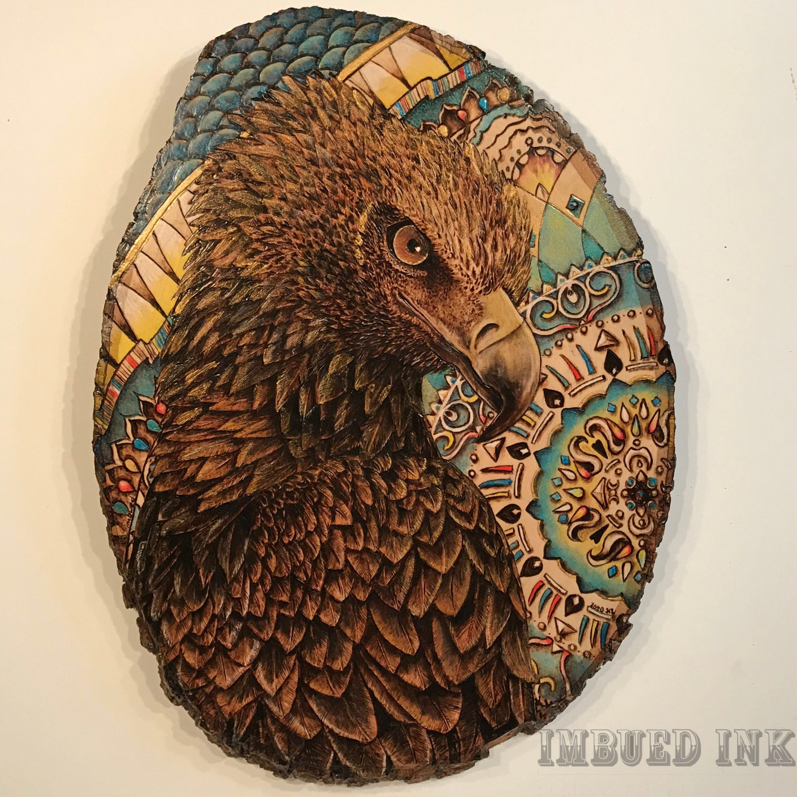 Wedge Tailed Eagle With Mandala By Kelsi Lytle