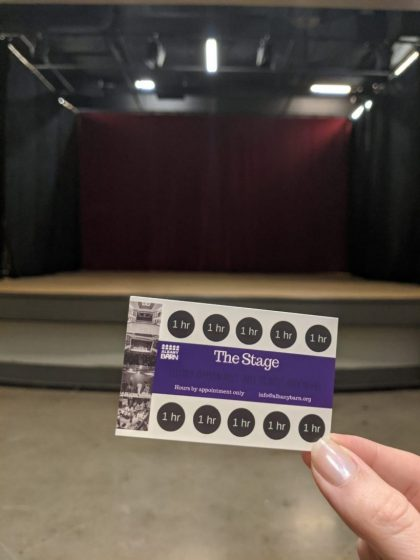 THE STAGE Rental Punch Card