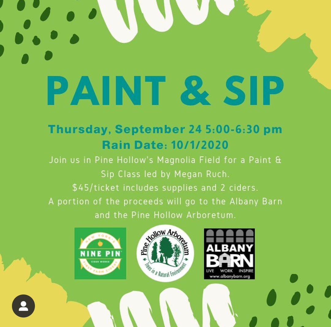 Paint & Sip This Fall With The Barn And Pine Hollow Arboretum!