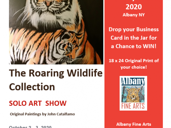 """THE ROARING WILDLIFE COLLECTION"" BY JOHN CATALFAMO @ Albany Barn"