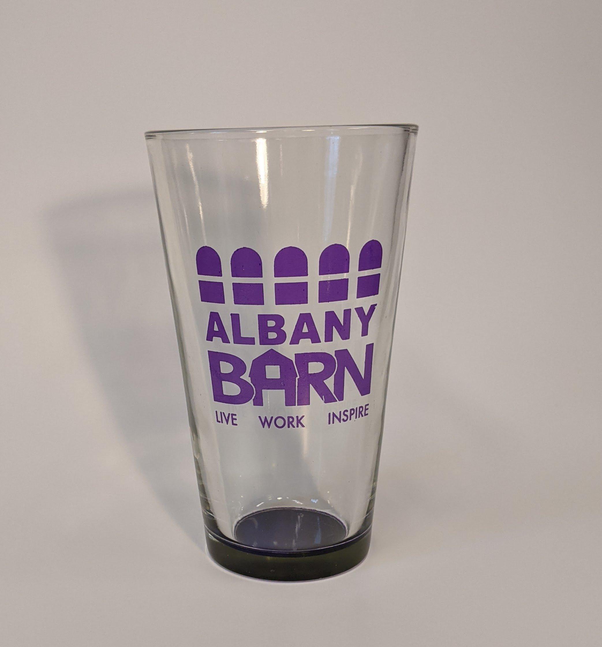 Albany Barn Purple Branded Pint Glass