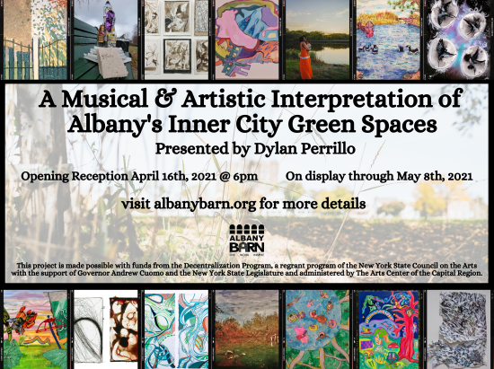 A Musical and Artistic Interpretation of Albany's Inner City Green Spaces: visual art exhibition presented by Dylan Perrillo @ Albany Barn